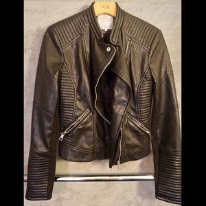 Women's Zara Trafaluc Black Faux Leather Jacket
